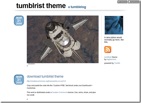 Tumblrist Theme