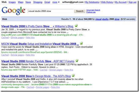 Visual Studio 2008 Slow