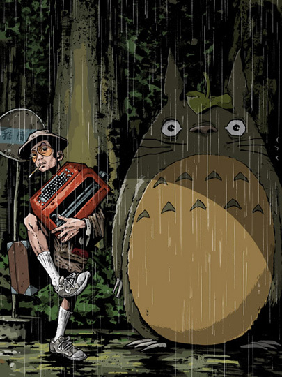 Totoro and ...Hunter S. Thompson?