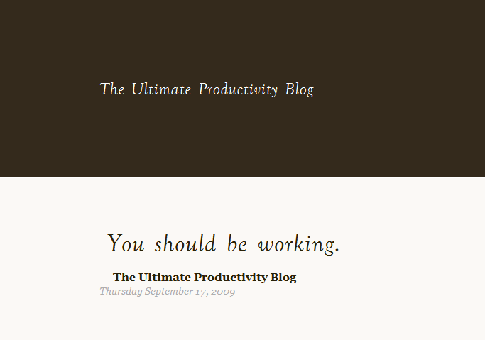 The Ultimate Productivity Blog