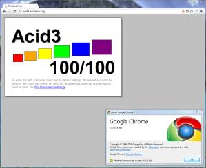 Chrome 7 - Acid3: 100%