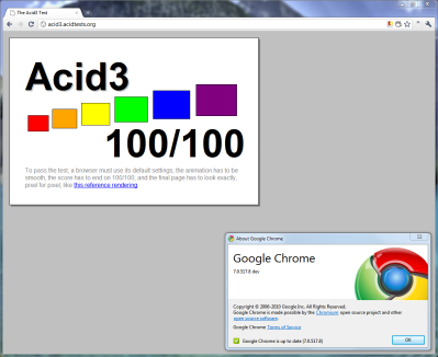 Chrome 7 - Acid3: 100%