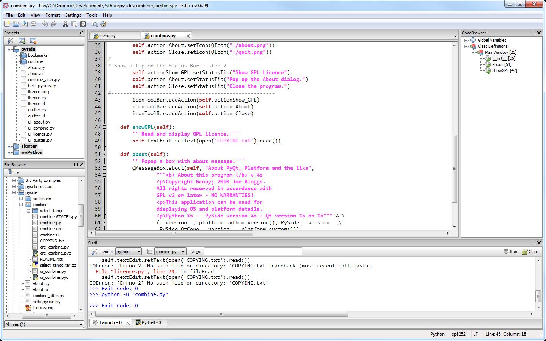 Editra Setup As A Python Ide Williamo 39 S Blog